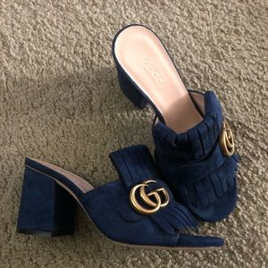 Authentic Gucci Suede Double G Sandal BRAND-NEW